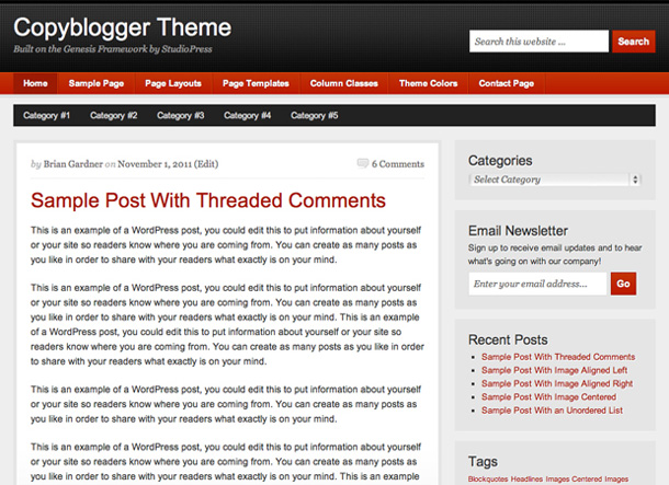 copyblogger theme